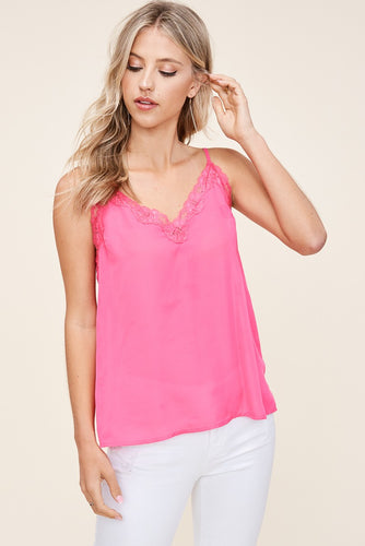 Simply Stunning Hot Pink Cami (5305275154592)
