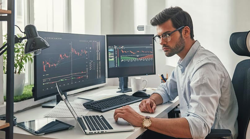 Image of wealth creation from stock market