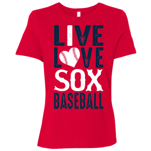 Live/Love Sox Ladies' Relaxed Jersey Short-Sleeve T-Shirt