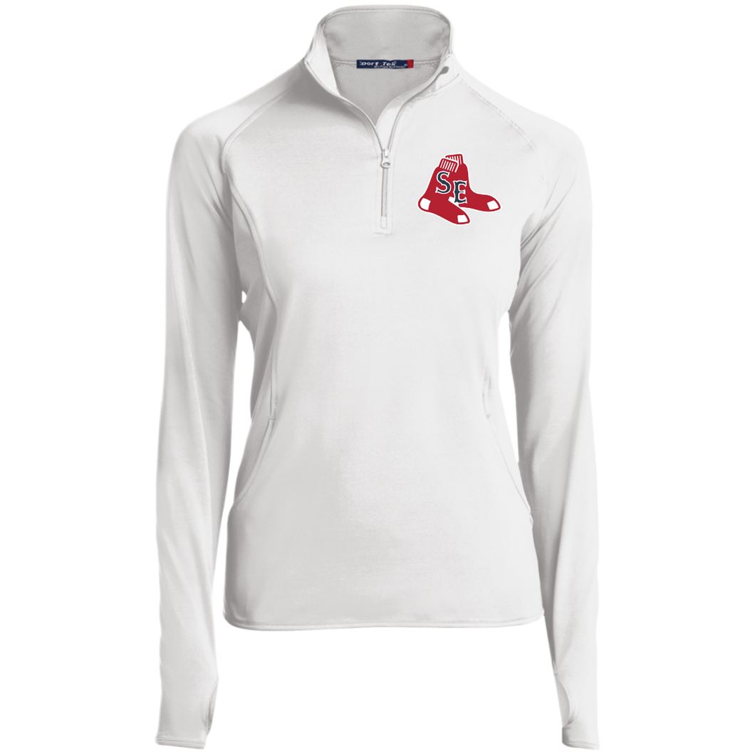 Sox Embroidered Logo Women's 1/2 Zip Performance Pullover