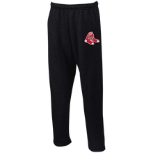 Load image into Gallery viewer, Sox Embroidered Logo Open Bottom Sweatpants with Pockets
