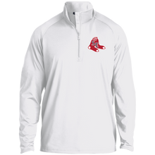 Load image into Gallery viewer, Sox Embroidered Logo 1/2 Zip Raglan Performance Pullover