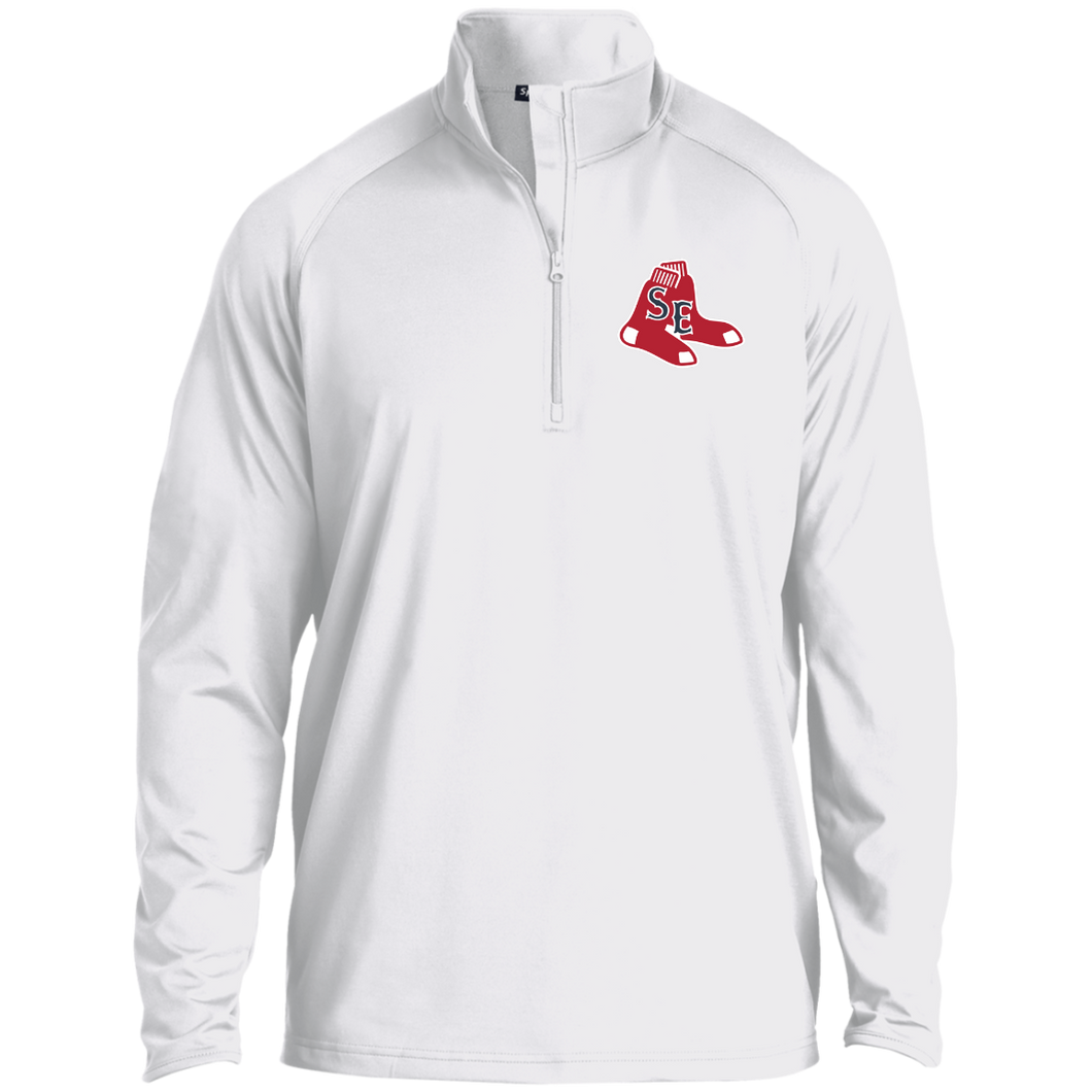 Sox Embroidered Logo 1/2 Zip Raglan Performance Pullover