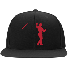 Load image into Gallery viewer, Bat Flip Flat Bill High-Profile Snapback Hat