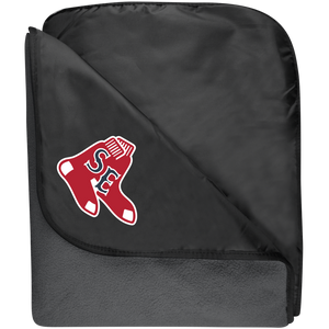 Sox Embroidered Logo Fleece & Poly Travel Blanket