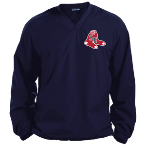 Sox Embroidered Logo Pullover V-Neck Windshirt