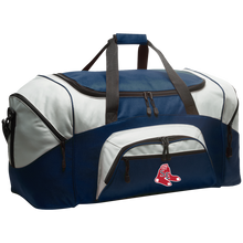 Load image into Gallery viewer, Sox Embroidered Logo Colorblock Sport Duffel