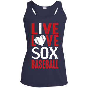Live/Love Sox Ladies' Racerback Moisture Wicking Tank