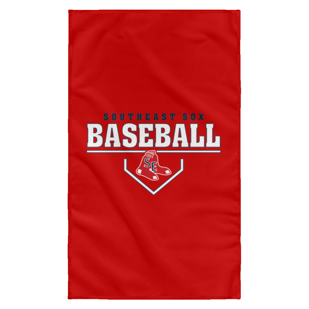 SE Sox Plate Logo Sublimated Wall Flag