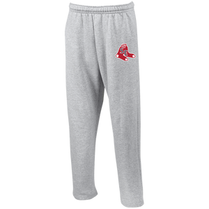 Sox Embroidered Logo Open Bottom Sweatpants with Pockets