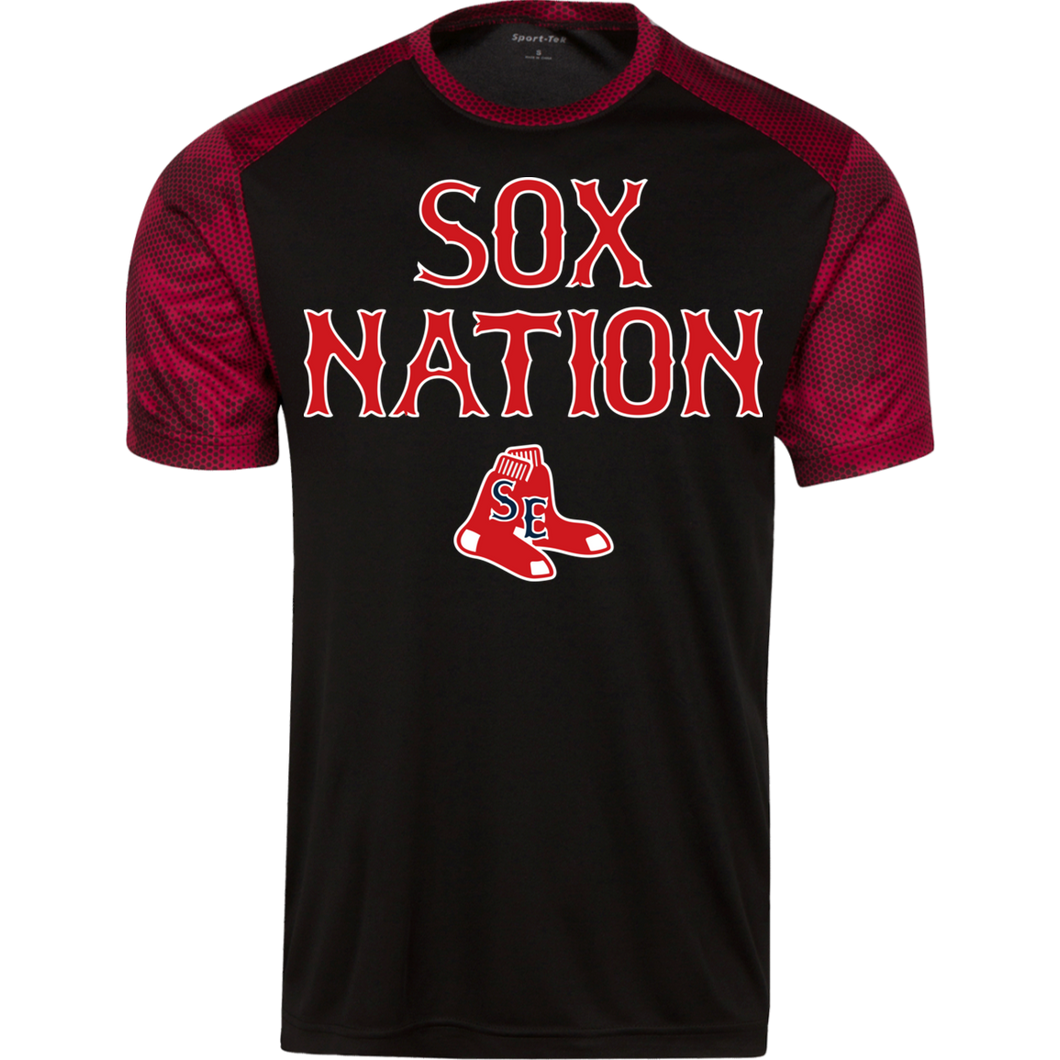 Sox Nation Youth CamoHex Colorblock T-Shirt