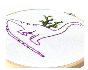 DIY Embroidery Kit - Brontosaurus