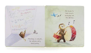Jellycat I Know A Monkey Book
