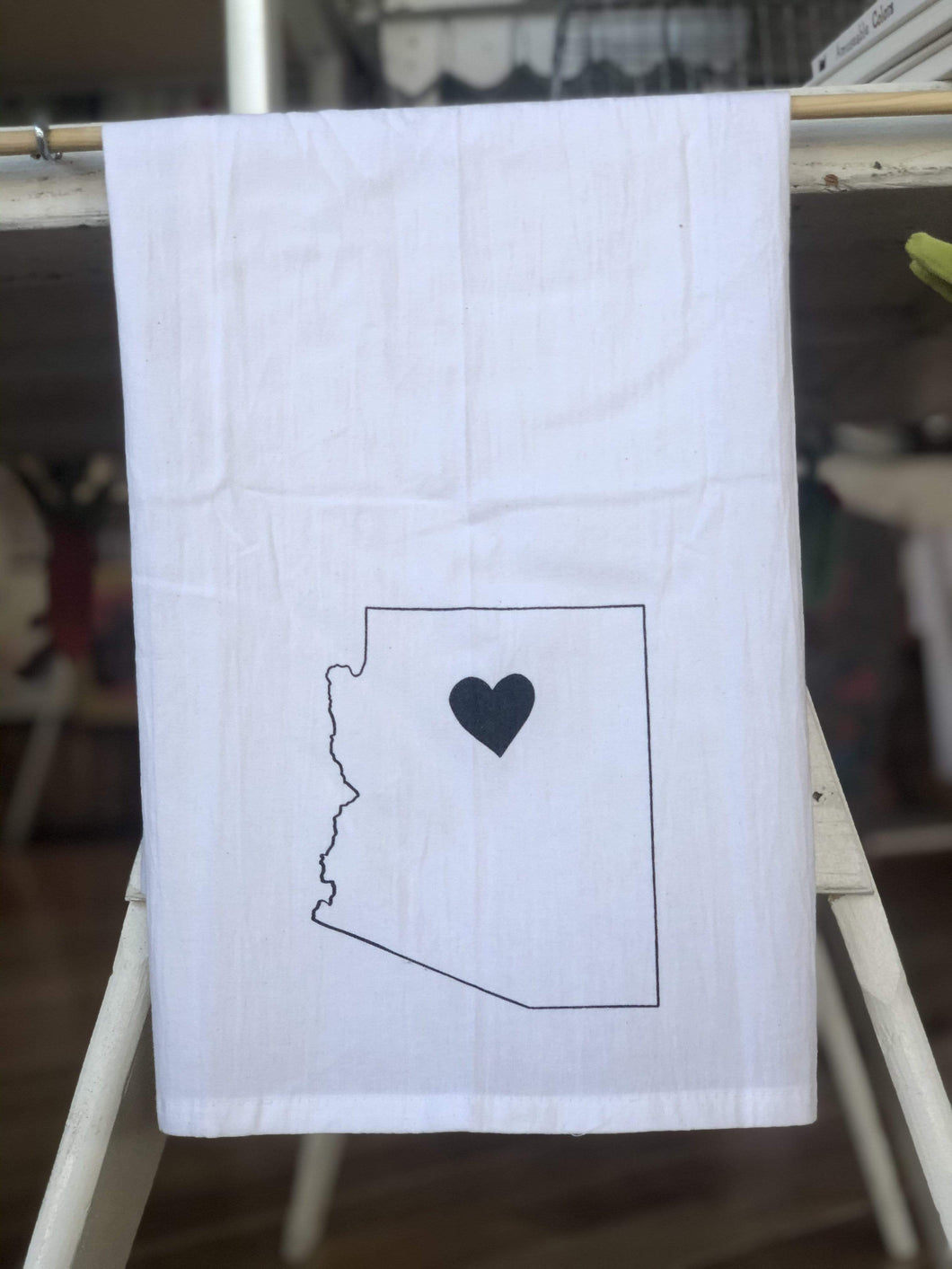 Local Gift Arizona State With Heart Tea Towel