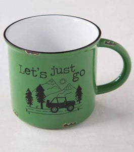 Camp Mug Lets Just Go