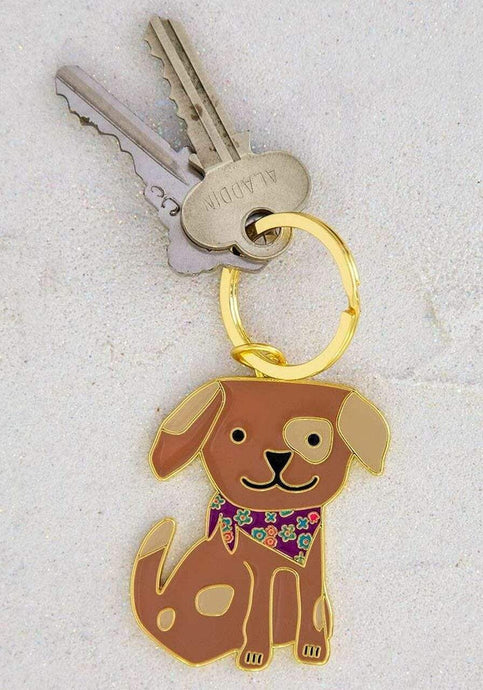 Natural Life Collections Gift Dog Enamel Keychain