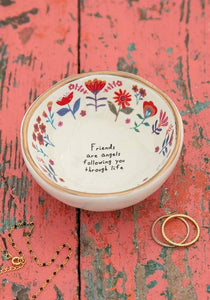 Natural Life Collections Gift Friends Are Angels Trinket Bowl