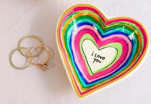 I Love You Heart Trinket Dish