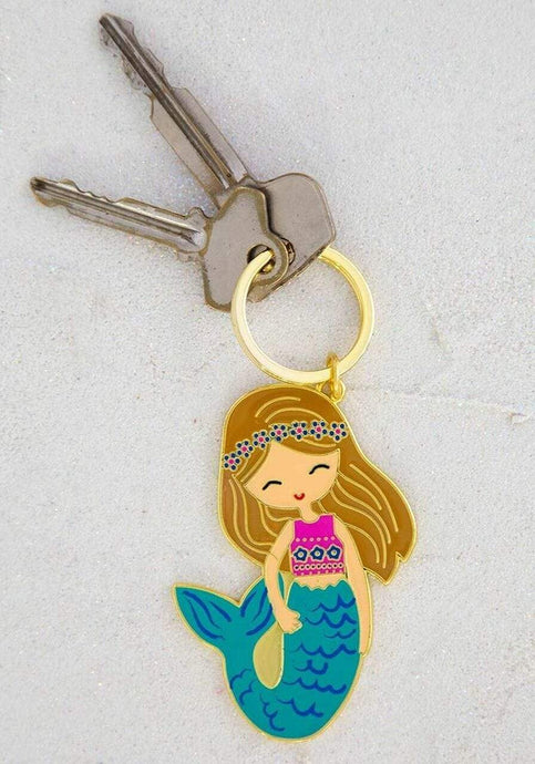 Natural Life Collections Gift Mermaid Enamel Keychain