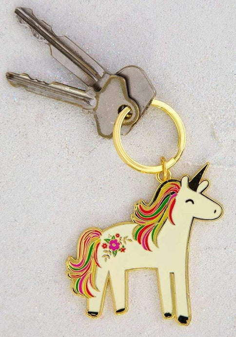 Natural Life Collections Gift Unicorn Enamel Keychain