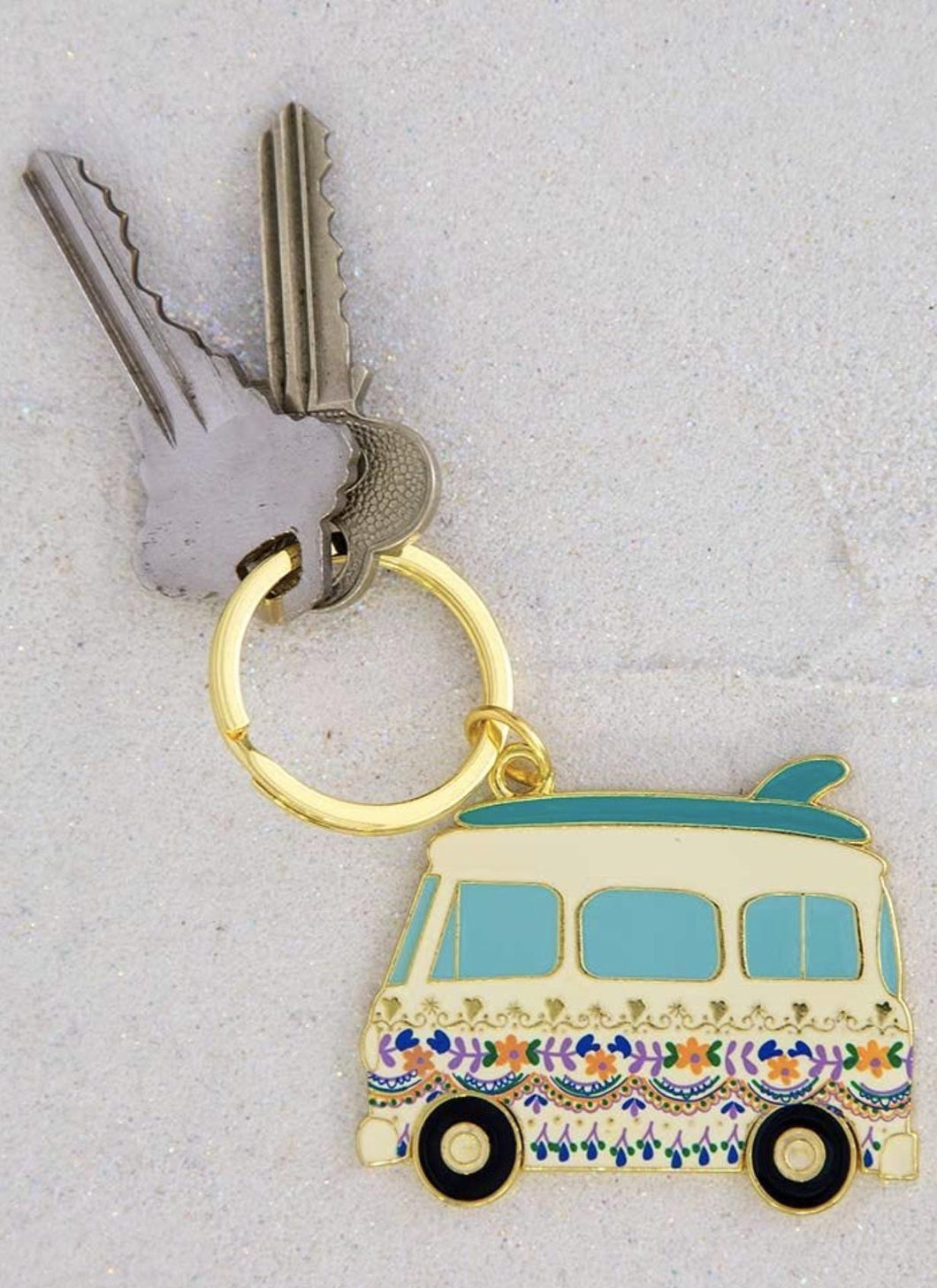 Natural Life Collections Gift Van Enamel Keychain