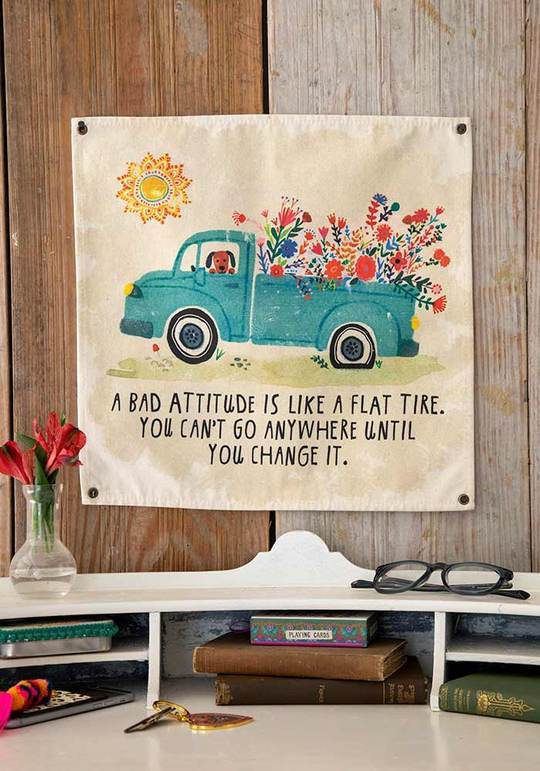 Natural Life Collections Home Decor Bad Attitude Wall Hanging