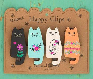 Cat Magnet Happy Clips