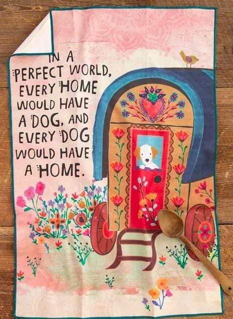 Perfect World Dog Cotton Dish Towel
