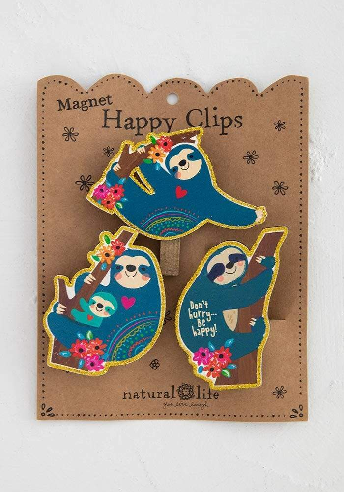 Natural Life Collections Kitchen Sloth Happy Clips