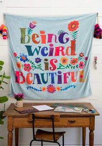 Natural Life Collections Room Decor Being Weird Tapestry Blanket