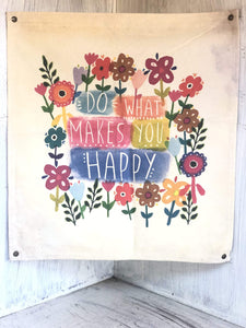 Happy Flowers Wall Hanging