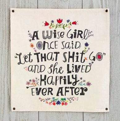 Wise Girl Wall Hanging