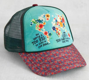 Natural Life Hats Trucker Hat World Too Big