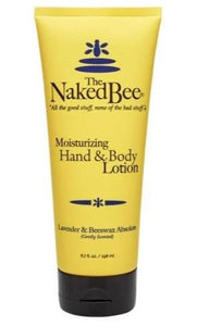 Naked Bee Hand & Body Lotion - 6.7oz Lavender & Beeswax