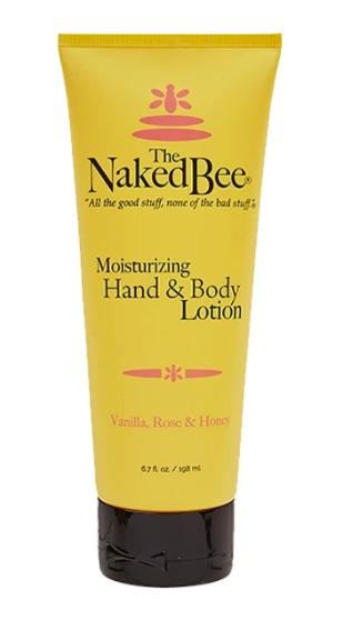 Naked Bee Hand & Body Lotion - 6.7oz Vanilla Rose & Honey