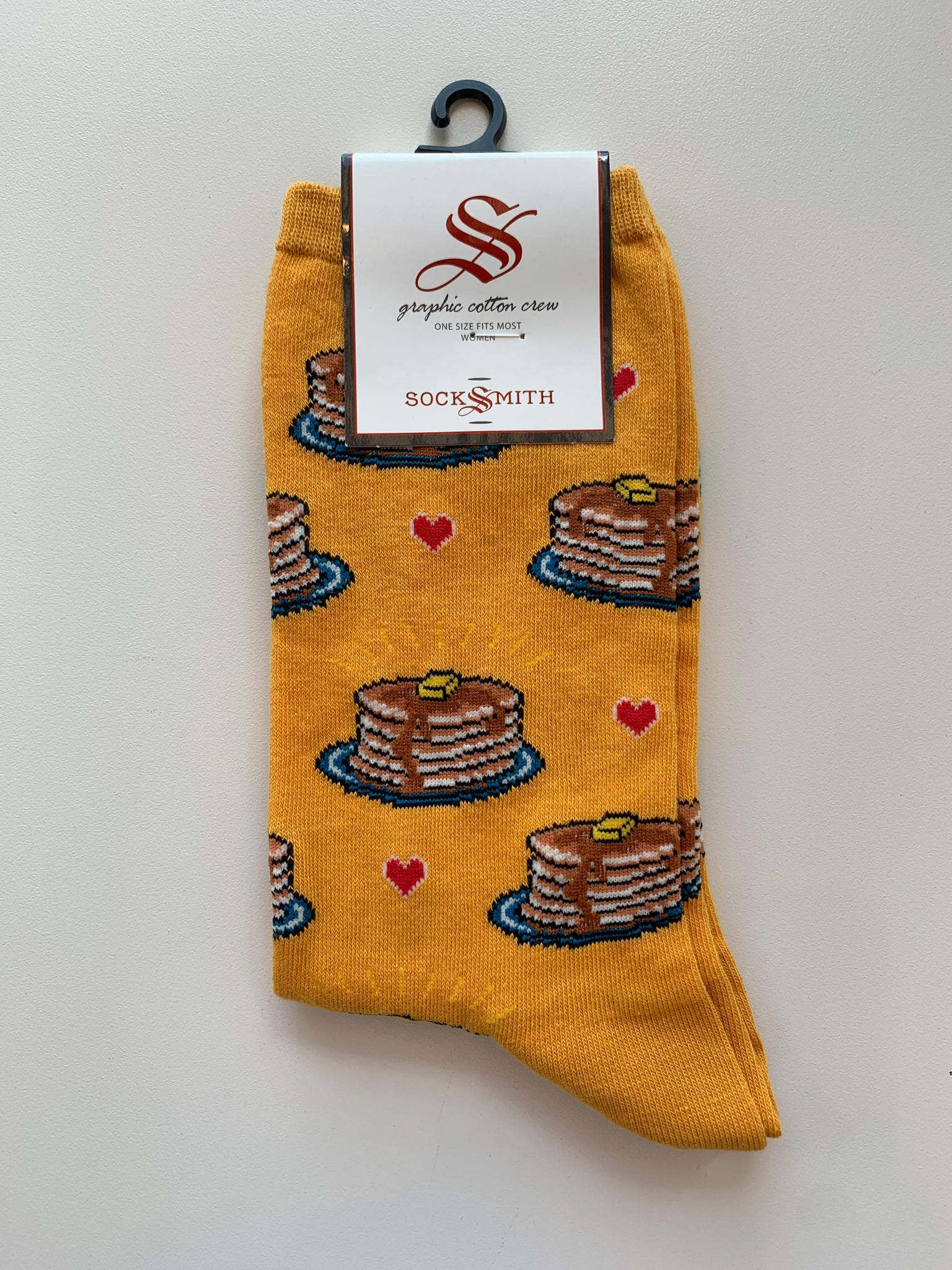 socksmith crew socks pancakes in gold