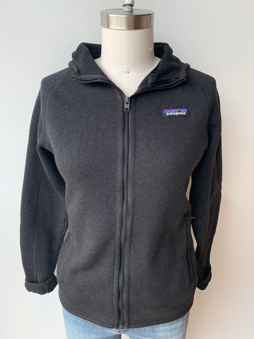 patagonia better sweater hoody in black