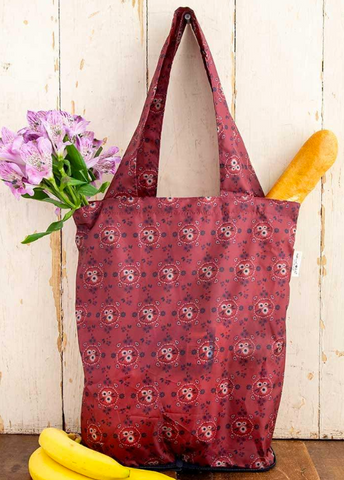 natural life on the go tote in rust