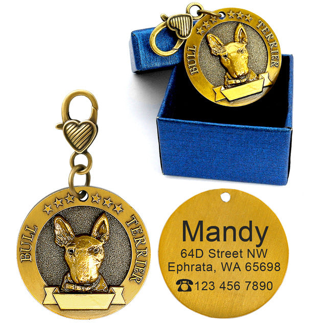Dog id tags bull terrier