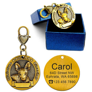 Dog id tags for miniature pinscher