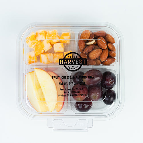 Fruit, Cheese, Almond Snack Tray - Hardie's Direct, Austin, TX
