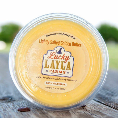 Butter, Lucky Layla Lightly Salted Local Golden Butter - Hardie's Direct Austin, TX