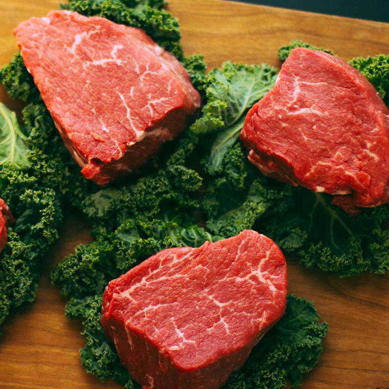 Beef, Rosewood Ranch 8 oz Sirloin Filets, 2 lb - Hardie's Direct Austin, TX