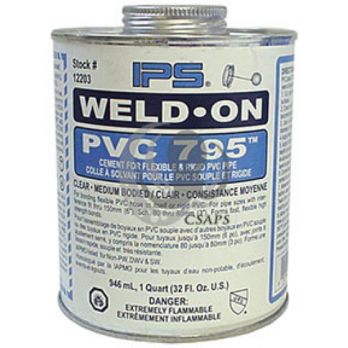 GLUE FLEX PVC 1/4PINT - 118ML
