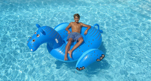 GIANT HIPPO RIDE-ON WITH 2 HANDLES