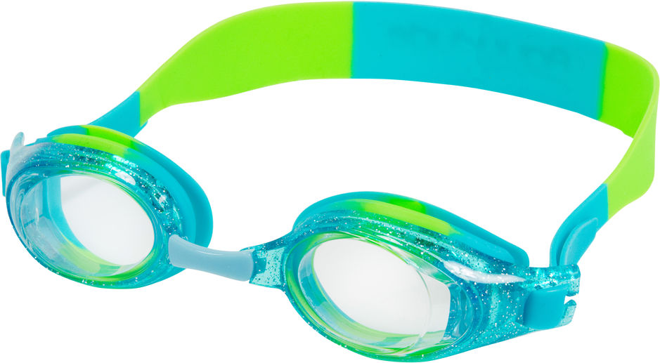 ANEMONE CLEAR/SPARKLE AQUA LIME YOUTH GOGGLES