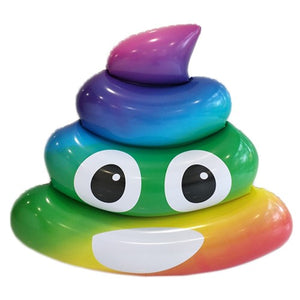 EMOJI RAINBOW POOP POOL FLOAT
