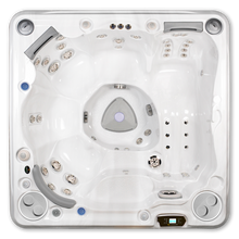 Load image into Gallery viewer, A top down view of a Hydropool Self Cleaning 570 Gold hot tub