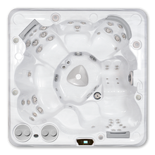 Load image into Gallery viewer, A top down view of a Hydropool Self Cleaning 695 Gold hot tub
