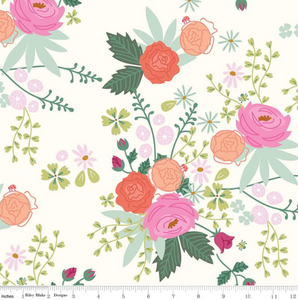 New Dawn Cream Floral by Citrus & Mint for Riley Blake Designs